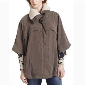 Anthropologie pocketed Sherpa Poncho
